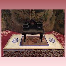 Rare Early Desk for Dollhouses