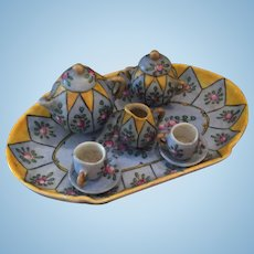 Desvres Gabriel Fourmaintraux Coffee Set for your Doll's House