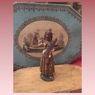 Early Wooden Lady Figure