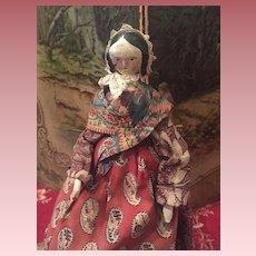 Beautiful  Wooden Grödner Doll