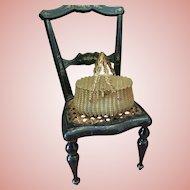 Lovely Ormolu Basket for Dolls