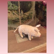 Lovely Early Small Velvet Pig by Steiff