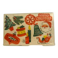 Vintage Gummed Seals Stickers Assorted Christmas Designs 60 Unused