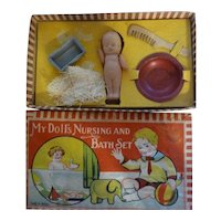 Vintage My Doll's Nursing and Bath Original Box Set