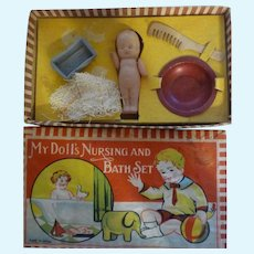 Vintage My Doll's Nursing and Bath Original Box Set