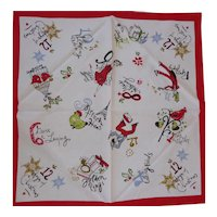 4 Holiday Novelty Napkins Twelve (12) Days of Christmas Xmas