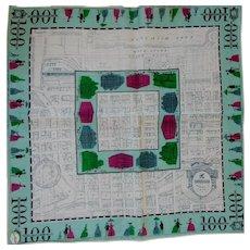RARE Novelty Hanky Handkerchief 100 Years of Chicago Designer Carol Stanley Tag