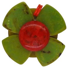 Bakelite Christmas Flower Charm Zipper Pull Pendant for Necklace Bracelet Phone Purse