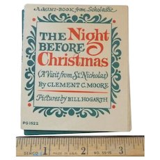 Vintage Scholastic The Night Before Christmas Mini Book 1976