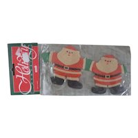 Adorable Original in Package Vintage Christmas Santa Paper Doll Chain