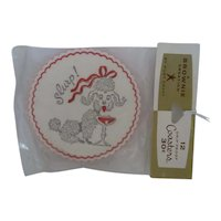 Vintage Paper POODLE Coasters Mint in Package 1950s