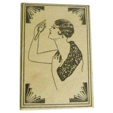 Unusual Vintage Celluloid Purse Pocket Mirror - Naughty Lady