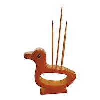 Unusual Bakelite Duck Toothpick Holder Napkin Ring