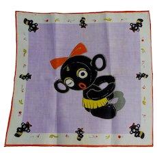 Rare and Unusual Vintage Child's Handkerchief Hanky Winky Blinky doll