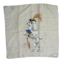 Vintage Novelty Hanky Handkerchief Fancy Poodle In Paris Burmel