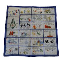 Fun Novelty Picture Hanky Handkerchief * The Weather Story *