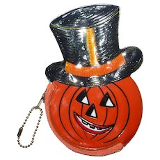 Vintage Halloween Jack O Lantern Coin Purse Old Stock Barton's Candy Pumpkin #2