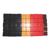 SALE! 50 Large BAKELITE DICE CUBES 4 Different Colors New Old Stock Dice Blanks