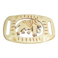 Unusual Carved Celluloid Buckle Slide of an Elephant