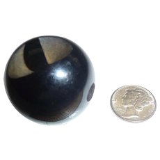 Hugest Bakelite Black Ball Button Ever! Humongus!! - Red Tag Sale Item