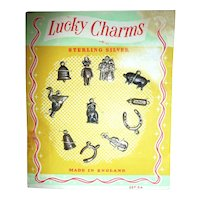 12 Different Small Sterling Silver Charms MOC Made in England Jewelry Design