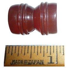 Unusual Chunky Bakelite Button Charm Hour Glass Toggle Shape