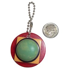 Bakelite Geometric Charm Zipper Pull Pendant 4 Colors for Necklace Bracelet Key Chain