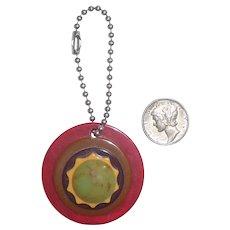 Bakelite Charm Zipper Pull Pendant 5 Colors for Necklace Bracelet or Key Chain Fob