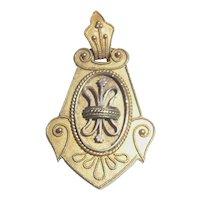 SALE! Antique Victorian Remembrance Mourning Hair Locket 10K Gold Ornate Design