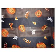 Spooky Halloween Scarf Jack-O-Lanterns ( JOLs), Ghosts, Candy Corn and BOO!
