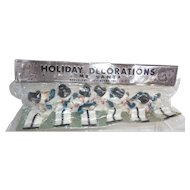 Vintage Christmas Holiday Decorations Mr. Santa Snowmen Mint Original Package