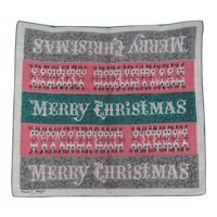 Tammis Keefe Unusual Christmas Xmas Hanky Handkerchief