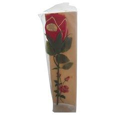Valentine Figural Folded Red Rose Hanky Handkerchief MWT + Embroidered Rose Hanky Valentine