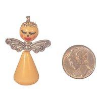Miniature BAKELITE ANGEL Charm Pendant Doll House size