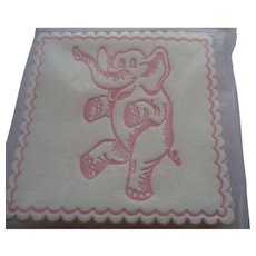 Vintage Pink Elephant Coasters Mint in Package 1950s