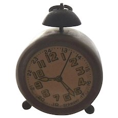 Vintage German Miniature Alarm Clock Old Figural Pencil Sharpener
