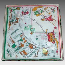 Vintage 1930s Childs Handkerchiefs Hanky MIB Hansel & Gretel & Red Riding Hood