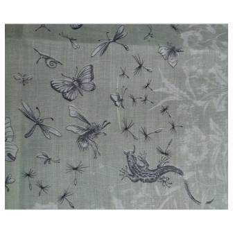 Sheer Hanky Lizards, Butterflies, Bees, Dragonflies, Snails