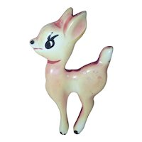 BAKELITE Bambi Pin Brooch Vintage Martha Sleeper Disney Theme