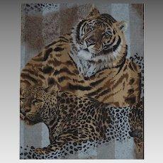 Beautiful Wild Animals Tiger & Cheetah Scarf Extra Long