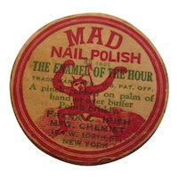 Super Rare 1921 MAD NAIL POLISH Devil on Box Enamel of the Hour Cosmetic