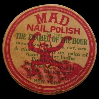 Super Rare 1921 MAD NAIL POLISH Devil on Box Enamel of the Hour Cosmetic