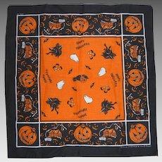 Halloween Scarf Bandana Witches Jack-O-Lanterns  USA Made