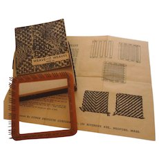 Vintage Donar Weave-It BAKELITE Hand Weaving Loom