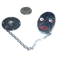 Rare Bakelite Snap Snapette Style Button Closure Black Man Mask