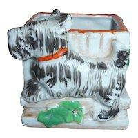 Vintage Scottie Scottish Terrier Dog Planter Ceramic Porcelain Japan