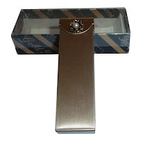 Vintage Stick Chewing Gum Hinged Top Brass Metal Holder Box Container MIB For Purse