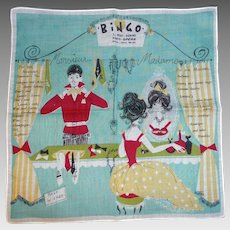 Rare & Unusual BINGO PARIS SHOP Hanky Department Store