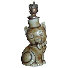 Vintage Perfume Bottle Shafer Vader Porcelain Cat Germany with Crown Top