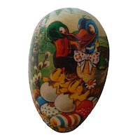 Vintage German Paper Mache Easter Egg Candy Container